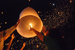Oplaten van wensballon