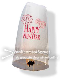 Wensballon happy new year