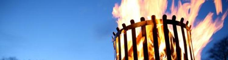 haardvuur in vuurkorf